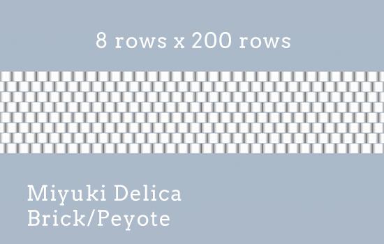 8 rows x 200 rows, Delica