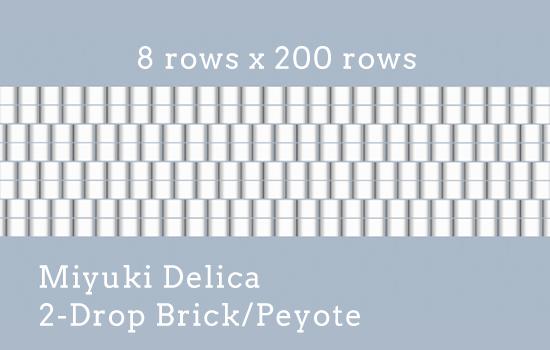 8 rows x 200 rows, 2-drop, Delica