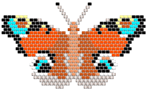 butterfly beading design